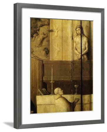Dialogue Between Christ and Gregory the Great, 540-604 Saint and Pope, Grisaille-Hieronymus Bosch-Framed Giclee Print