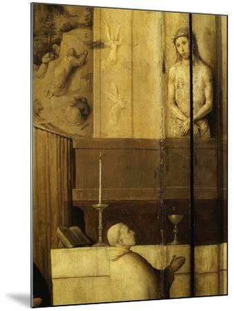 Dialogue Between Christ and Gregory the Great, 540-604 Saint and Pope, Grisaille-Hieronymus Bosch-Mounted Giclee Print