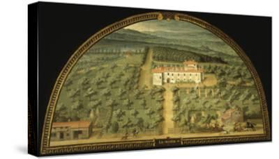 Villa La Magia, Tuscany, Italy, from Series of Lunettes of Tuscan Villas, 1599-1602-Giusto Utens-Stretched Canvas Print
