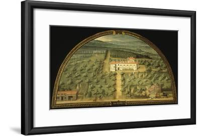 Villa La Magia, Tuscany, Italy, from Series of Lunettes of Tuscan Villas, 1599-1602-Giusto Utens-Framed Giclee Print