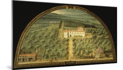 Villa La Magia, Tuscany, Italy, from Series of Lunettes of Tuscan Villas, 1599-1602-Giusto Utens-Mounted Giclee Print