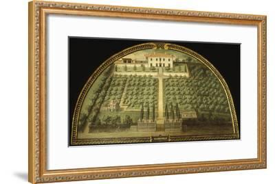Villa Marignolle, Tuscany, Italy, from Series of Lunettes of Tuscan Villas, 1599-1602-Giusto Utens-Framed Giclee Print