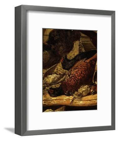 Pheasant and Woodcock, from Trophée De Chasse, or Hunting Trophies, 1862, Detail-Claude Monet-Framed Premium Giclee Print