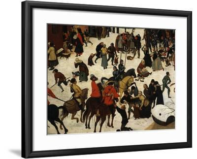 The Massacre of the Innocents (Detail)-Pieter Brueghel the Younger-Framed Giclee Print