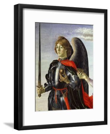 Michael, from Tobias and the Three Archangels (Detail)-Francesco Botticini-Framed Giclee Print