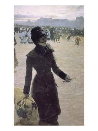 Returning from the Bois De Boulogne, Paris, France-Giuseppe De Nittis-Framed Giclee Print