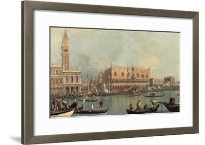 Venice, Showing Doge's Palace and Saint Mark's Square, Italy-Canaletto-Framed Giclee Print