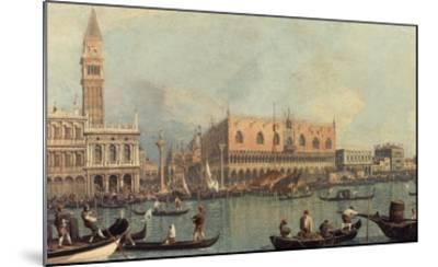 Venice, Showing Doge's Palace and Saint Mark's Square, Italy-Canaletto-Mounted Giclee Print
