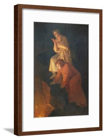 Dante and Virgil, 1855-Rafael Flores-Framed Giclee Print