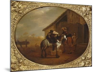 Leaving the Inn-Pieter Van Laer-Mounted Giclee Print