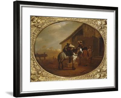 Leaving the Inn-Pieter Van Laer-Framed Giclee Print