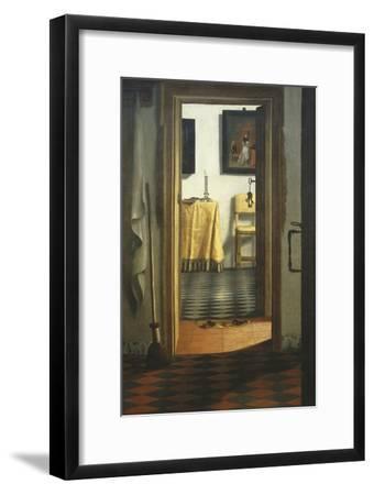 Les Pantoufles, the Slippers, or Interior View-Samuel van Hoogstraaten-Framed Giclee Print