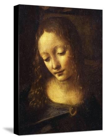 Virgin, from the Virgin of the Rocks, 1483-86, Detail-Leonardo da Vinci-Stretched Canvas Print