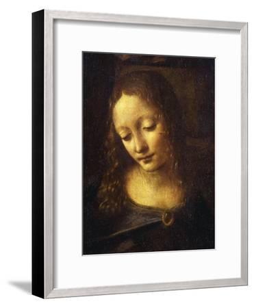 Virgin, from the Virgin of the Rocks, 1483-86, Detail-Leonardo da Vinci-Framed Giclee Print