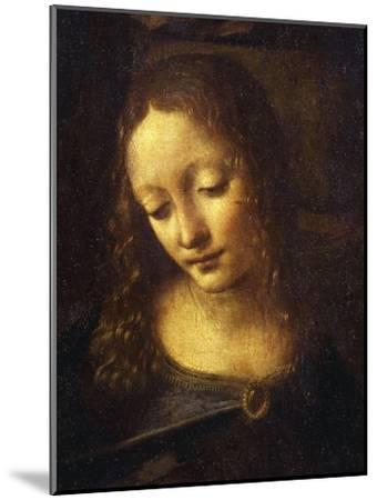 Virgin, from the Virgin of the Rocks, 1483-86, Detail-Leonardo da Vinci-Mounted Giclee Print