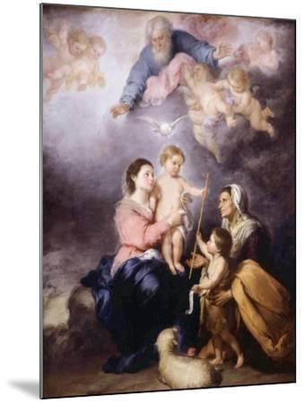 The Holy Family, Called the Virgin of Seville, 1670-Bartolome Esteban Murillo-Mounted Giclee Print