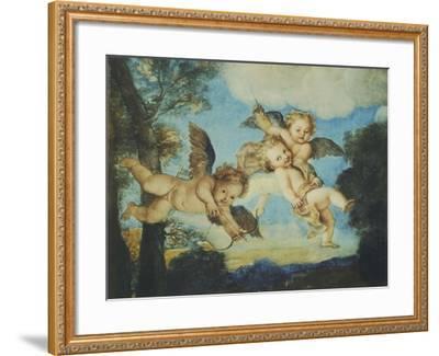 Cupids Playing, Drawing, 18th Century-Noel Nicolas Coypel-Framed Giclee Print