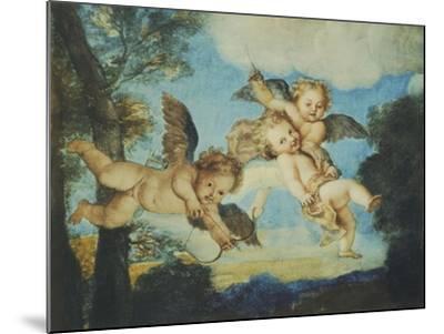 Cupids Playing, Drawing, 18th Century-Noel Nicolas Coypel-Mounted Giclee Print