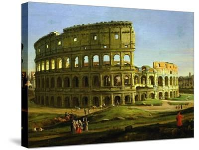 Colosseum, from the Colosseum and the Roman Forum (Inv 884), Detail-Gaspar van Wittel-Stretched Canvas Print
