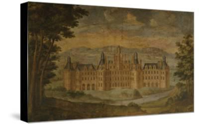 Château De Chambord, Mural Painting, C. 1680-85, Italian Gallery, Château De Gizeux, Touraine--Stretched Canvas Print