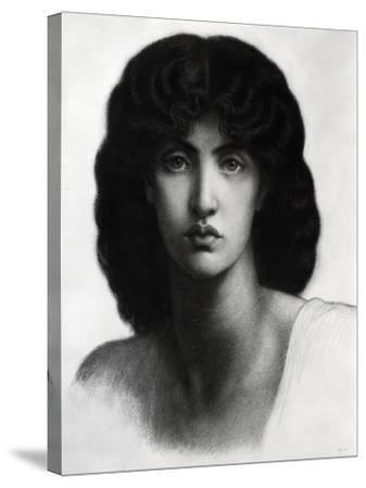 Study for Astarte Syriaca, Model Jane Morris, Pencil, 1875-Dante Gabriel Rossetti-Stretched Canvas Print