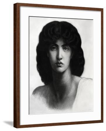 Study for Astarte Syriaca, Model Jane Morris, Pencil, 1875-Dante Gabriel Rossetti-Framed Giclee Print