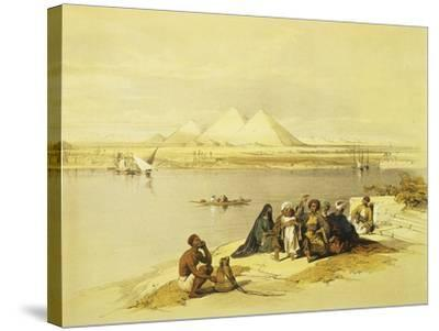 The Pyramids at Giza, Egypt, Lithograph, 1838-9-David Roberts-Stretched Canvas Print
