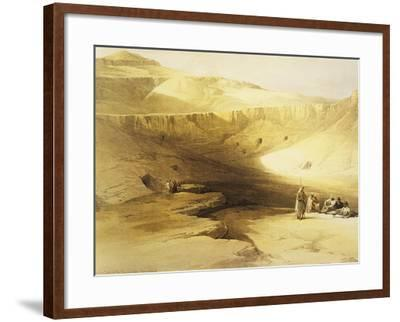 Entrance to the Valley of the Kings, Biban El Muluk, Egypt, Lithograph, 1838-9-David Roberts-Framed Giclee Print
