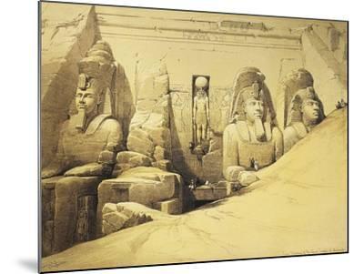 Temple of Abu Simbel, 13th Century Bc, Façade, Egypt, Lithograph, 1838-9-David Roberts-Mounted Giclee Print