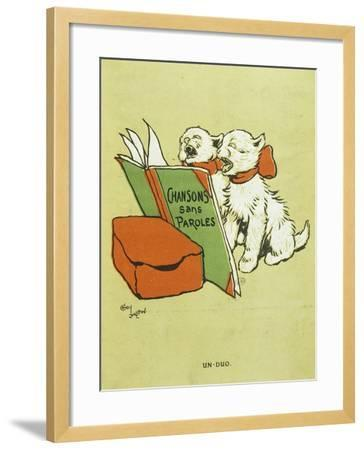 Pair of Cats, from Cover of Chansons Sans Paroles, Songs Without Words, Album, 1900-Cecil Aldin-Framed Giclee Print