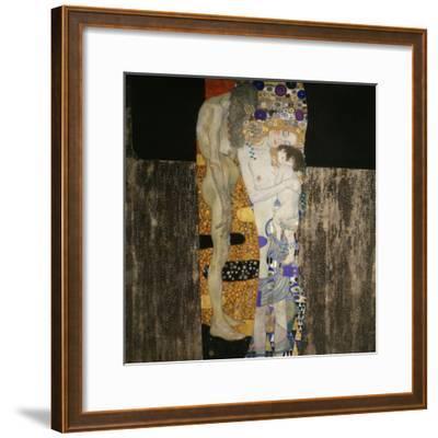 The Three Ages of Woman, 1905-Gustav Klimt-Framed Giclee Print