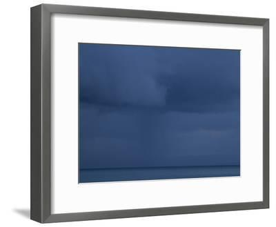 A Cloud Covered Blue Sky over the Pacific Ocean in Costa Rica-Michael Melford-Framed Photographic Print