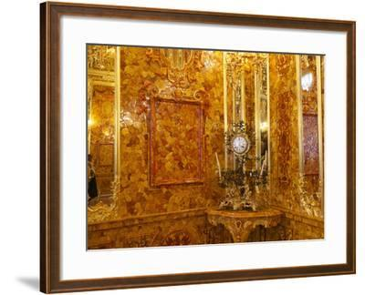The Amber Room in the Catherine Palace in Tsarskoye Selo-Keenpress-Framed Photographic Print