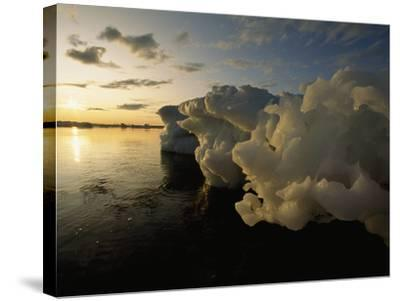 Icebergs Floating in the Arctic-Norbert Rosing-Stretched Canvas Print