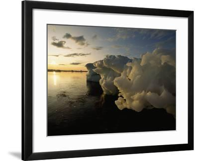 Icebergs Floating in the Arctic-Norbert Rosing-Framed Photographic Print