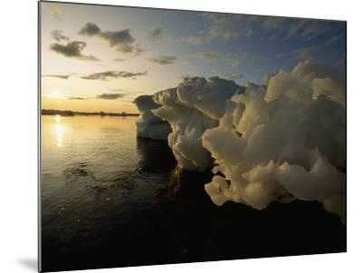 Icebergs Floating in the Arctic-Norbert Rosing-Mounted Photographic Print