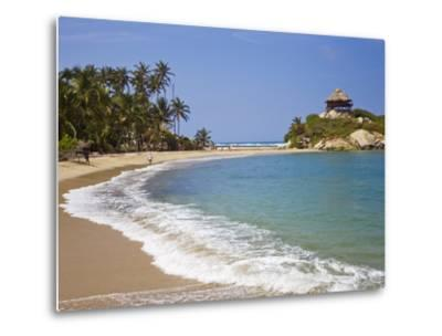 Palm Tree Lined Beach and Turquoise Waters at Cabo San Juan-Mike Theiss-Metal Print