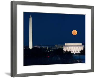 Panorama of the March 19, 2011 Super Moon at Perigee Full Moon-Greg Dale-Framed Photographic Print