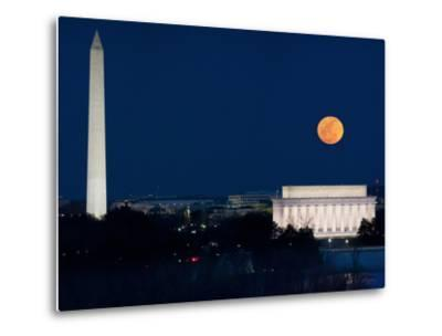 Panorama of the March 19, 2011 Super Moon at Perigee Full Moon-Greg Dale-Metal Print