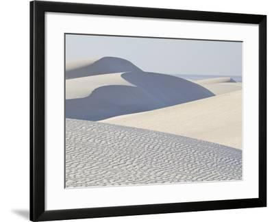 White Sand Dunes Stretch for Miles at Aomak Beach-Michael Melford-Framed Photographic Print