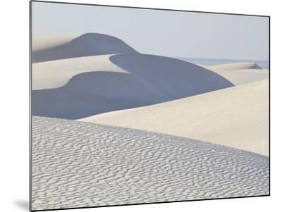White Sand Dunes Stretch for Miles at Aomak Beach-Michael Melford-Mounted Photographic Print