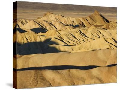 Rugged and Ridged Landscape at Zabriskie Point, Death Valley-Marc Moritsch-Stretched Canvas Print