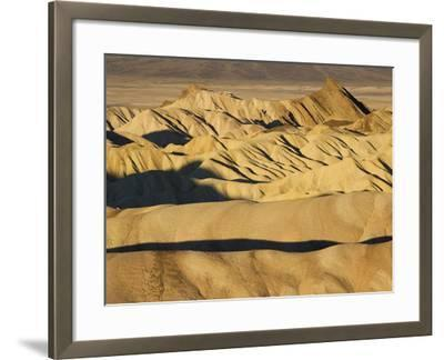 Rugged and Ridged Landscape at Zabriskie Point, Death Valley-Marc Moritsch-Framed Photographic Print