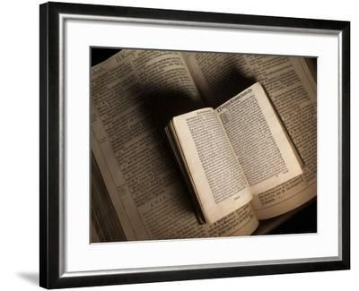 William Tyndale's New Testament Sits on a King James Bible from 1611  Photographic Print by Jim Richardson | Art com