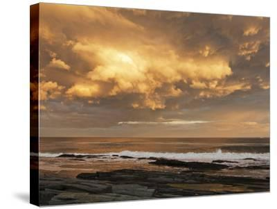 A Break after Stormy Weather on Cape Elizabeth's Rocky Shore-Mauricio Handler-Stretched Canvas Print