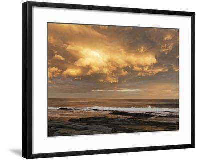 A Break after Stormy Weather on Cape Elizabeth's Rocky Shore-Mauricio Handler-Framed Photographic Print