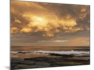 A Break after Stormy Weather on Cape Elizabeth's Rocky Shore-Mauricio Handler-Mounted Photographic Print