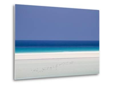White Sand Beaches Stretch for Miles at Detwah Lagoon-Michael Melford-Metal Print
