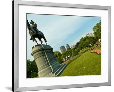 Statue of George Washington in the Boston Public Garden-Richard Nowitz-Framed Photographic Print