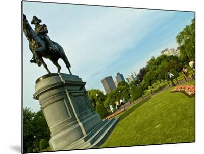 Statue of George Washington in the Boston Public Garden-Richard Nowitz-Mounted Photographic Print